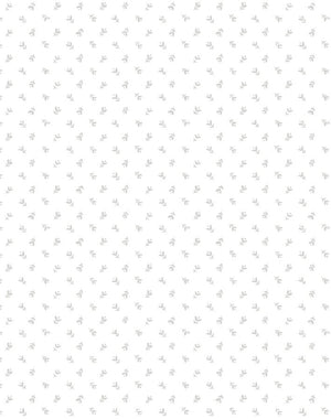 Teensy Floral Grey On White  Wallpaper