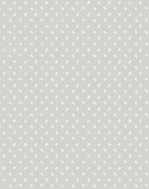 Teensy Floral Grey  Wallpaper