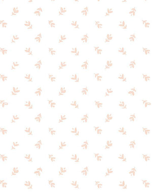 Teensy Floral Pink On White  Wallpaper