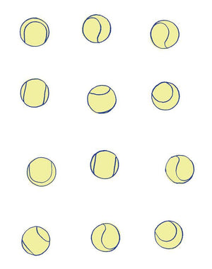 Tennis Balls Navy Lemon  Wallpaper