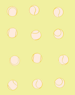 Tennis Balls Lemon  Wallpaper