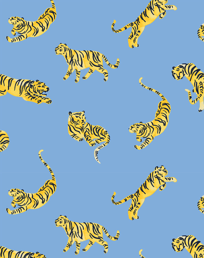 Tigers Denim  Wallpaper