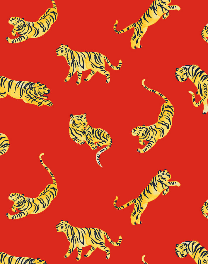 Tigers Red  Wallpaper
