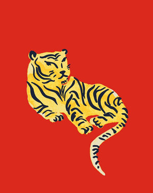 Tigers - Red, by Tea Collection