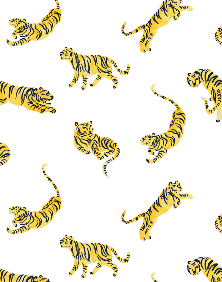 Tigers White  Wallpaper
