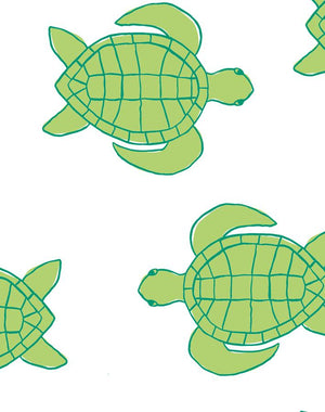 Trailing Turtles Lime  Wallpaper