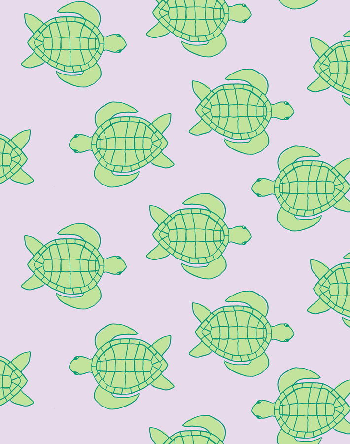 Trailing Turtles Lavender  Wallpaper