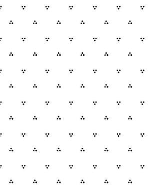 Dainty Dot Black On White  Wallpaper