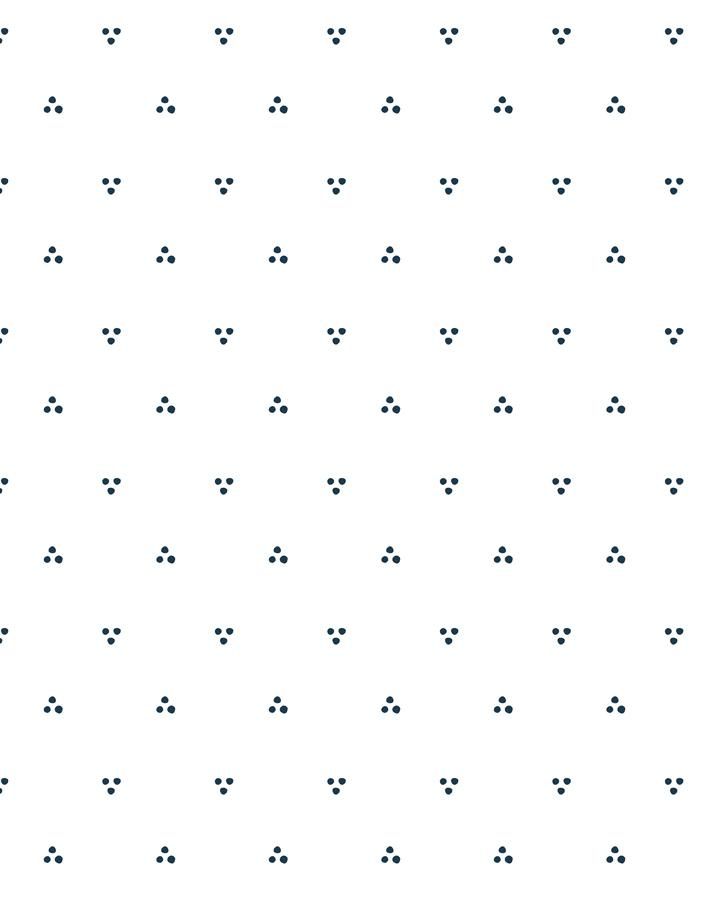 Dainty Dot Navy On White Wallpaper