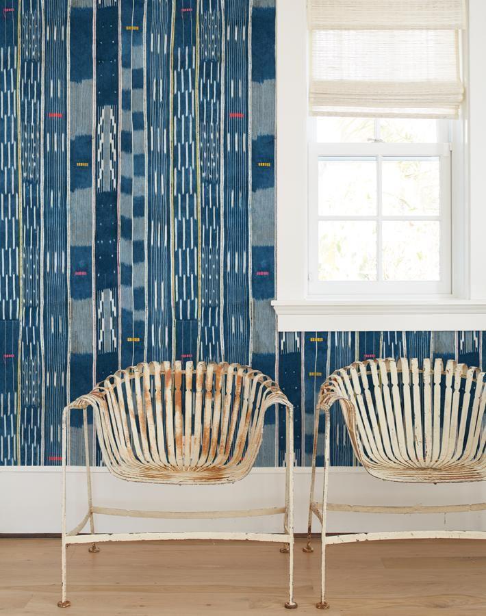 Madison Stripe Blue  Wallpaper