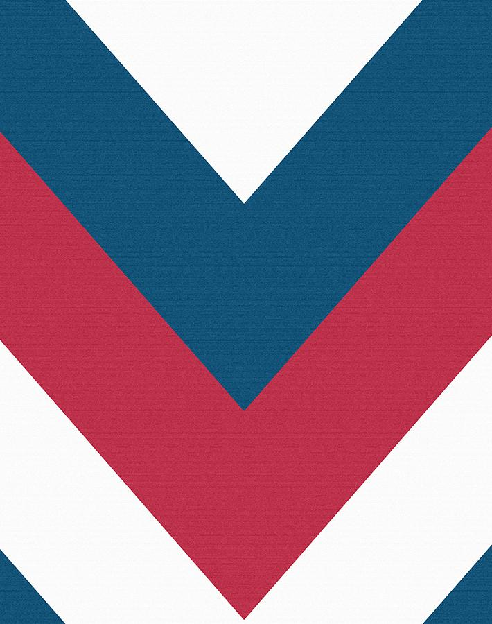 V Is For Chevron Red Blue  Wallpaper