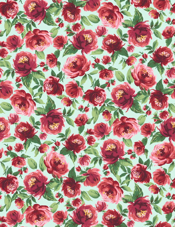 Veronica - robin's egg wallpaper roll - Wallshoppe