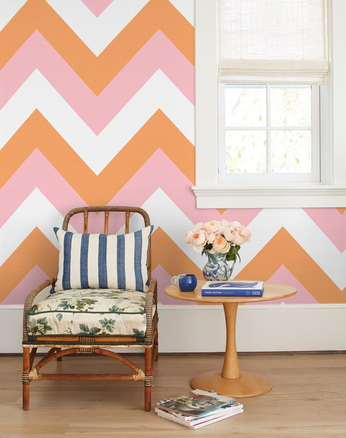 V Is For Chevron Creamsicle  Wallpaper
