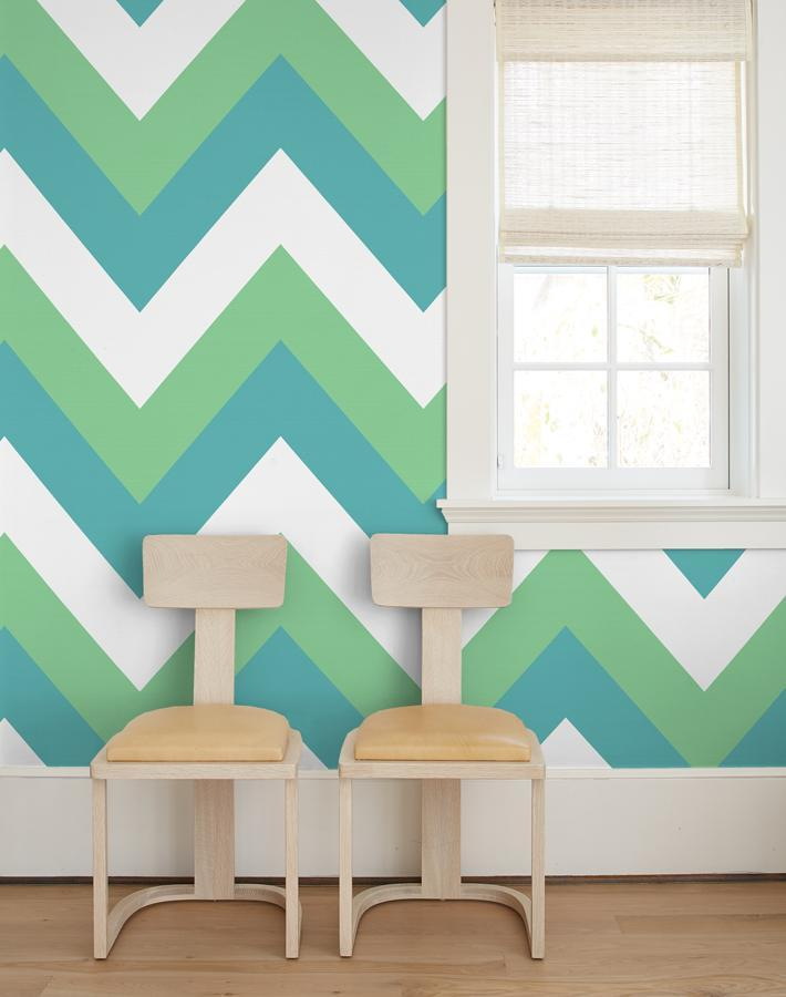 V Is For Chevron Green  Wallpaper