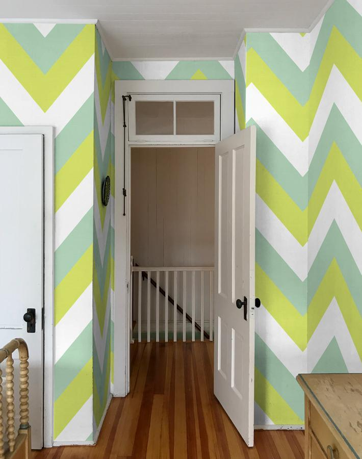 V Is For Chevron Lime  Wallpaper