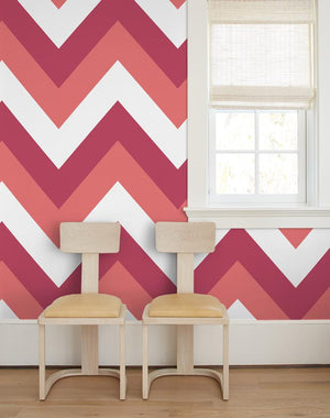 V Is For Chevron Watermelon  Wallpaper