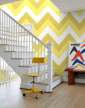 V Is For Chevron Yellow  Wallpaper