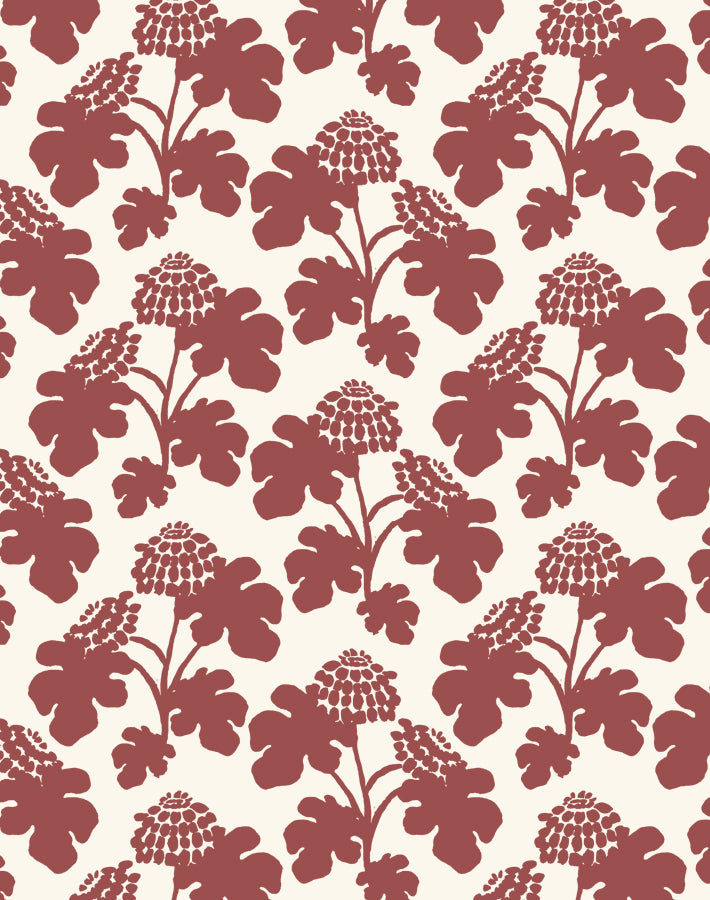 Casia Flowers Solid Pomegranate  Wallpaper