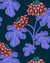 Casia Flowers Navy  Wallpaper