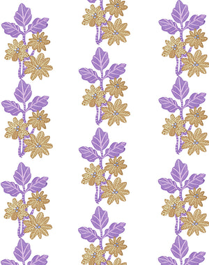 Lulu Stripe Lavendar  Wallpaper