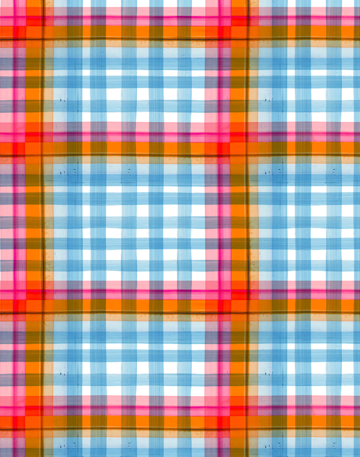 Plaid Plaid - Aqua - Wallshoppe