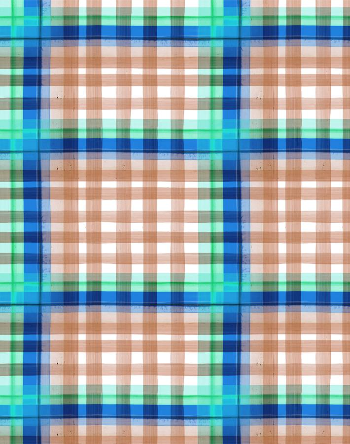 Plaid Plaid Salmon  Wallpaper