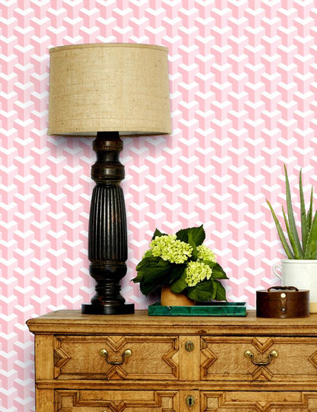Y Not - piggybank / pony pink wallpaper roll - Wallshoppe