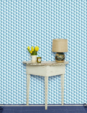 Y Not Baby Blue Seaside  Wallpaper
