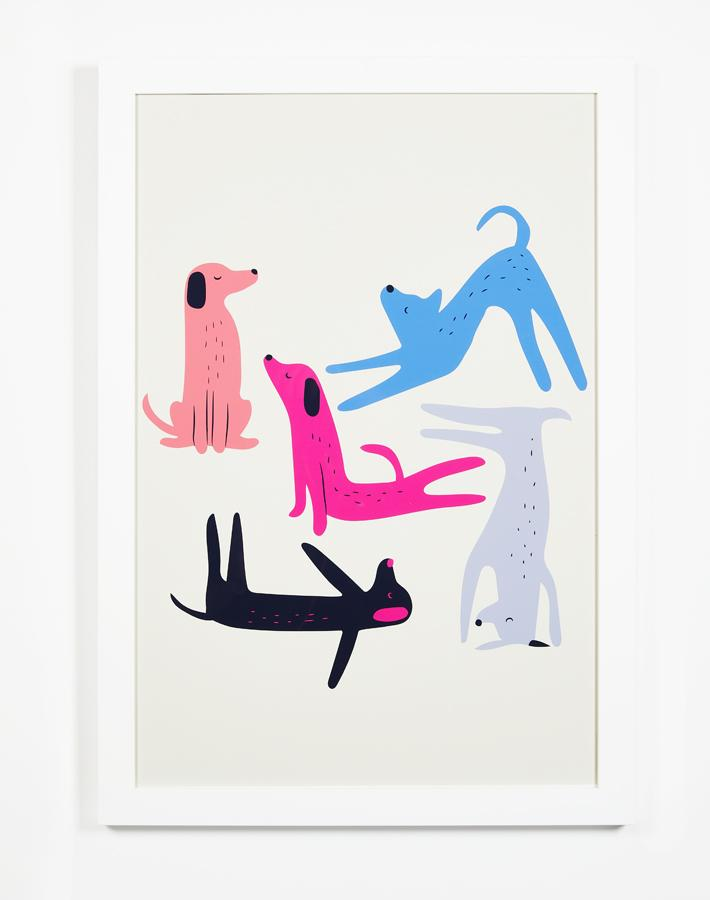 Artshoppe Yoga Dogs by Tea Collection
