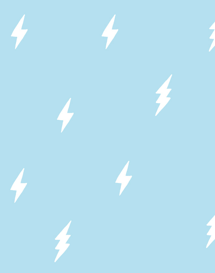 Zeus Lightning Baby Blue  Wallpaper