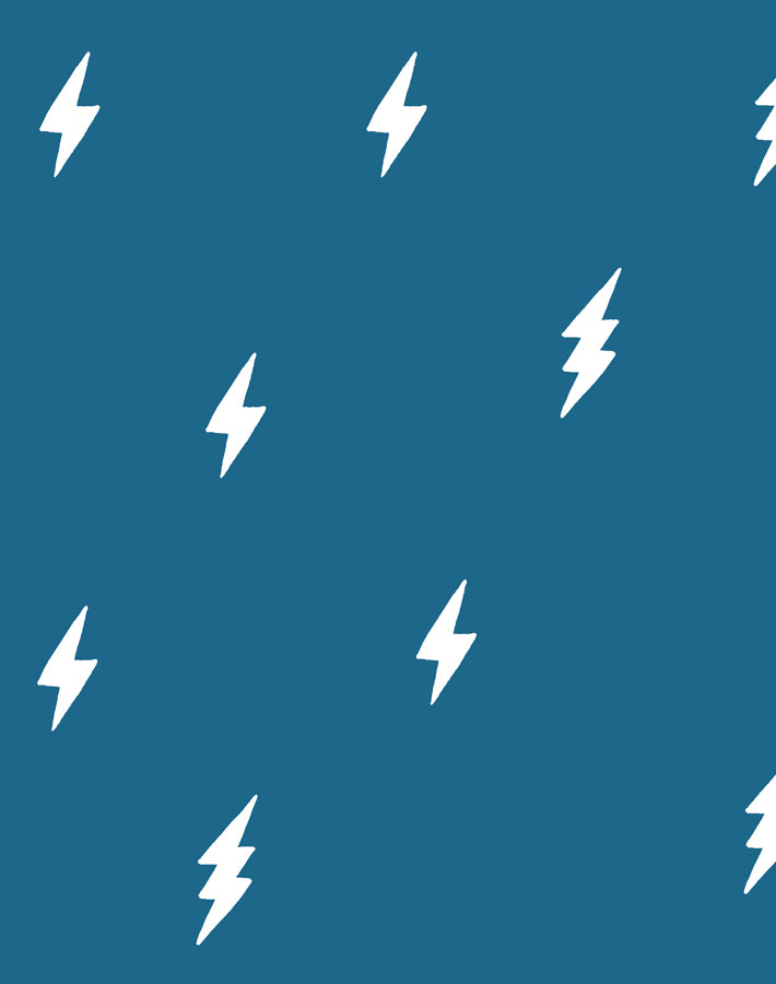 Zeus Lightning Cadet Blue  Wallpaper