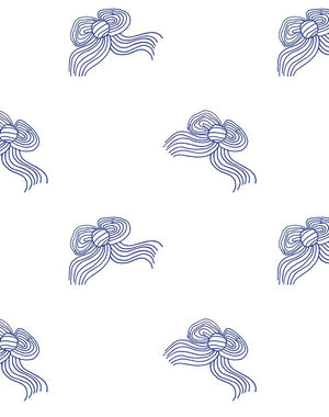 Bows Blue  Wallpaper