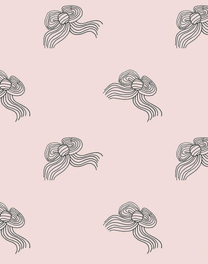 Bows Charcoal Shell  Wallpaper