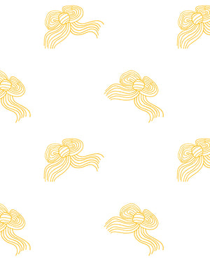 Bows Wallpaper - Marigold - Wallshoppe