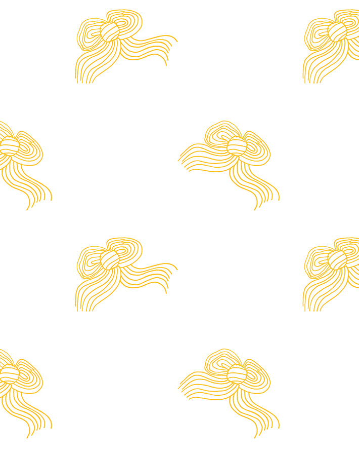 Bows Removable Wallpaper - Marigold - Wallshoppe