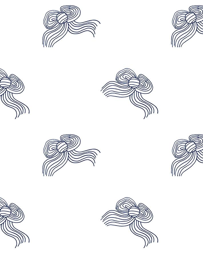 Bows Navy  Wallpaper