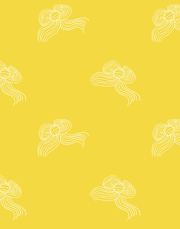 Bows Removable Wallpaper - Yellow - Wallshoppe