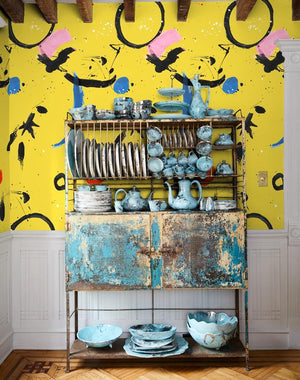 Marguerite Mural Yellow  Wallpaper