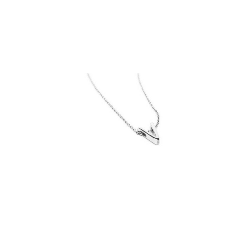 Sterling Silver A, B, E, I, V, W Letter Necklace by Naked Nation - Handmade Jewellery for Women