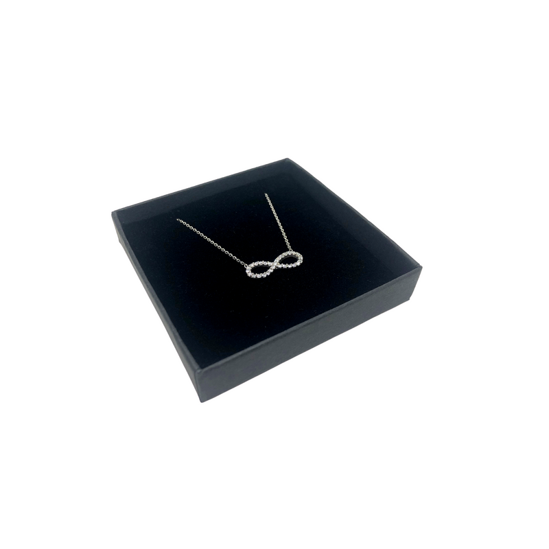 Sterling Silver Infinity Pendant with Cubic Zirconia Necklace