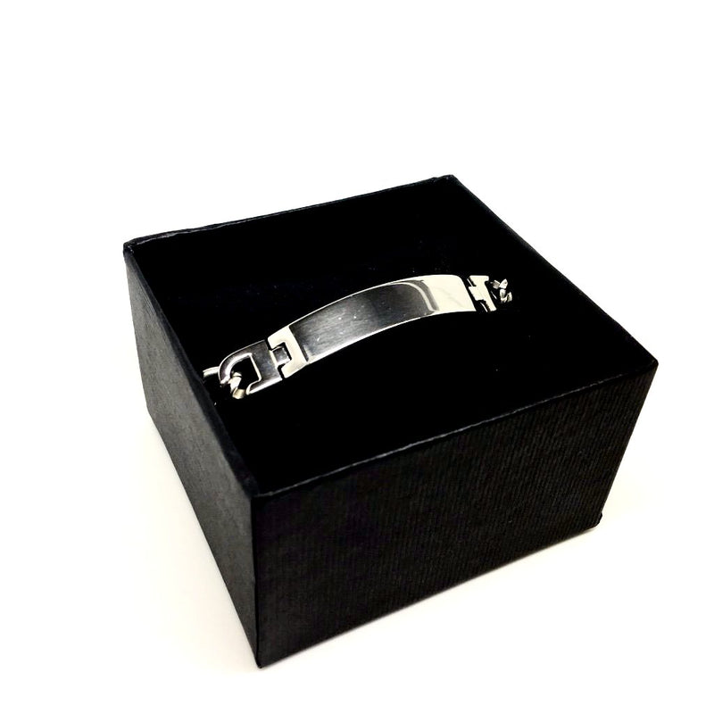 Men's Solid Stainless Steel Bracelet Designer - Italian Jewellery