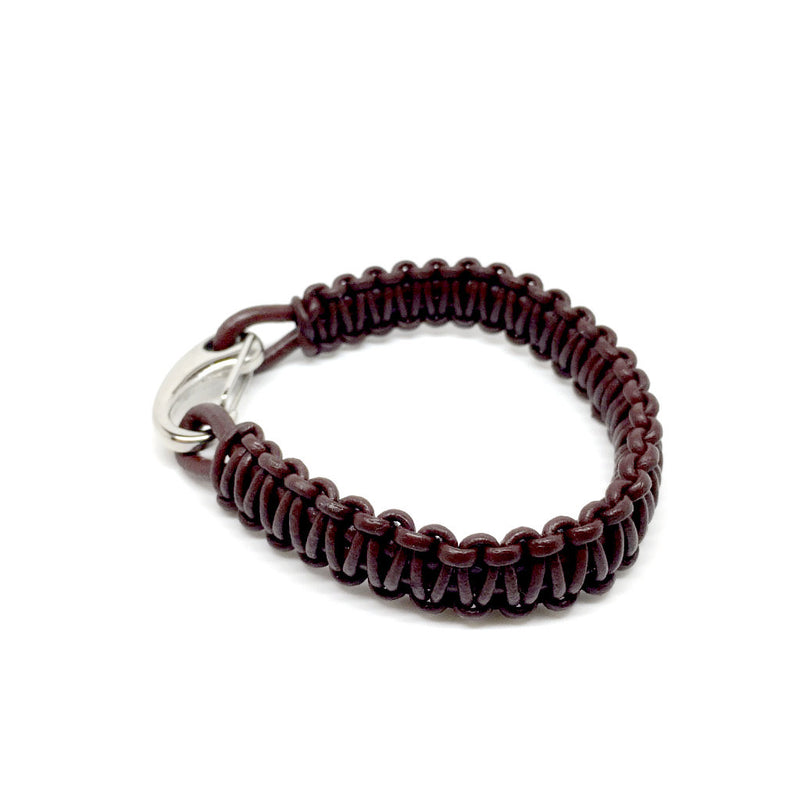Men's Jewellery brown & black Leather bracelet with Plated Stainless Steel Hook Clasp - Naked Nation - 4
