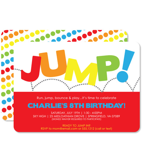 Jump Birthday (Red)