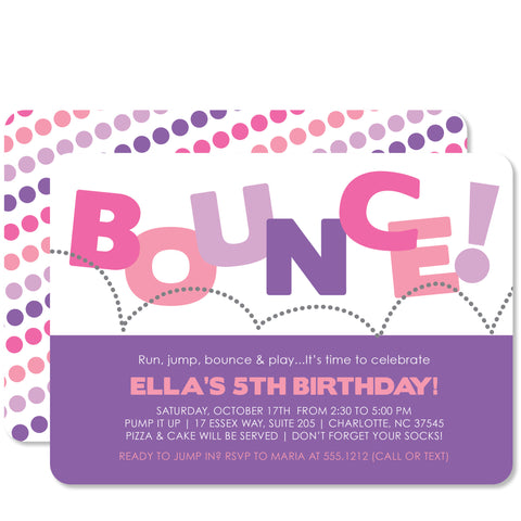 Bounce Birthday (Pink & Purple)