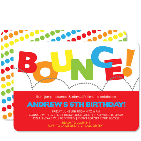 Bounce Birthday (Red)