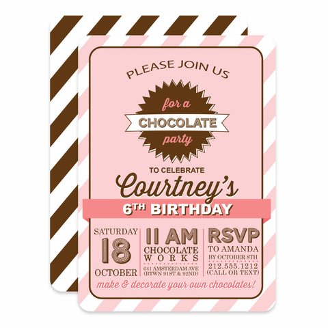 Chocolate Birthday (Pink)