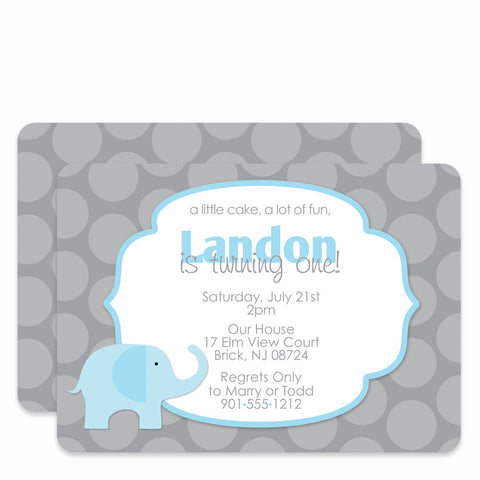 Elephant Birthday (Blue)