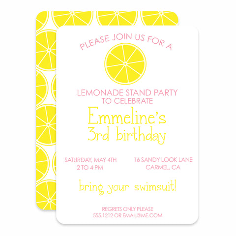 Lemonade Stand Birthday
