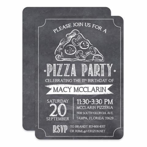 Pizza Chalkboard Birthday
