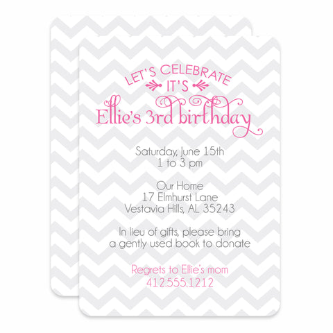 Soft Chevron Birthday